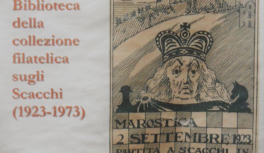 Don Mario dona la sua collezione filatelica sugli scacchi a Marostica