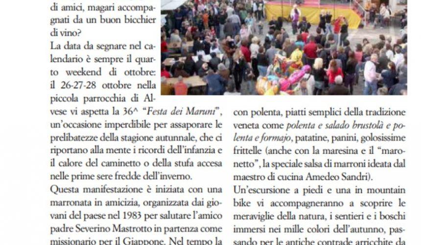 """Invito alla nostra festa in """"Vita della valle del Chiampo"""""""