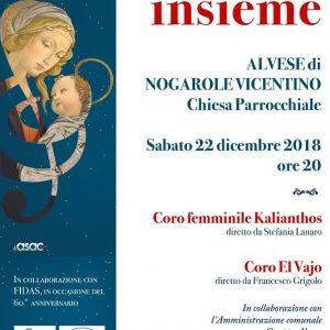 """Concerto di Natale ad Alvese con ASAC Veneto e FIDAS Vicenza: """"Kalianthos"""" di Malo e """"El Vajo"""" di Chiampo"""