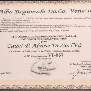 """I nostri """"Caùci di Alvese De.Co."""" entrano ufficialmente nell'Albo Regionale delle De.Co. del Veneto!"""