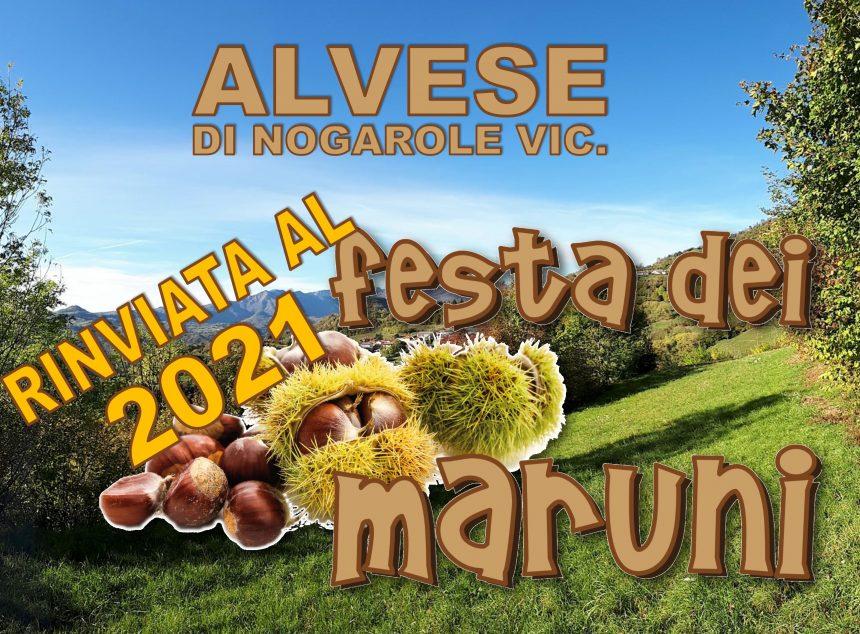 """La """"Festa dei Maruni"""" è rinviata al 2021"""