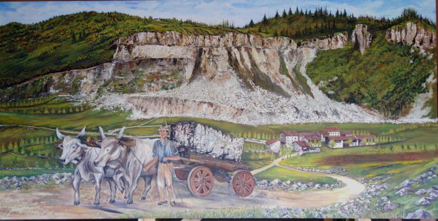 Un nuovo murales ad Alvese racconta il duro lavoro dei cavatori di marmo