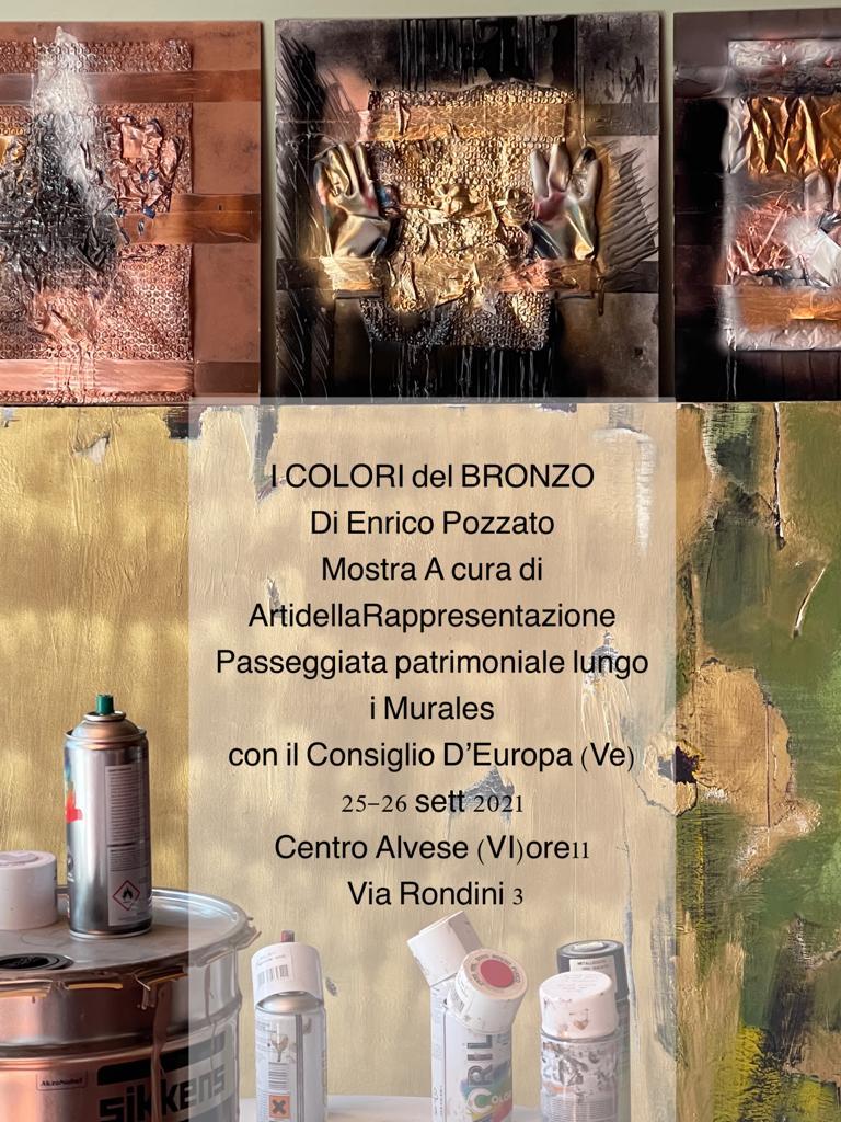 """""""I colori del bronzo"""", ad Alvese mostra dell'arch. Enrico Pozzato in occasione delle Passeggiate patrimoniali del Consiglio d'Europa"""